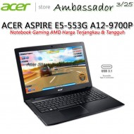 ACER ASPIRE E5-553G AMD QUAD-CORE A12-9700P (Radeon R8-M445DX 2GB)